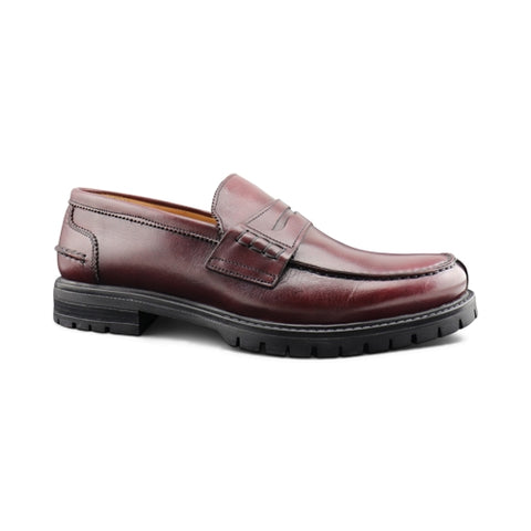 Burgundy leather Moccasin
