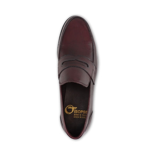 Mocassino in pelle bordeaux