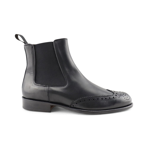 Stivaletto in pelle nero