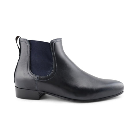 Blue leather chelsea boot