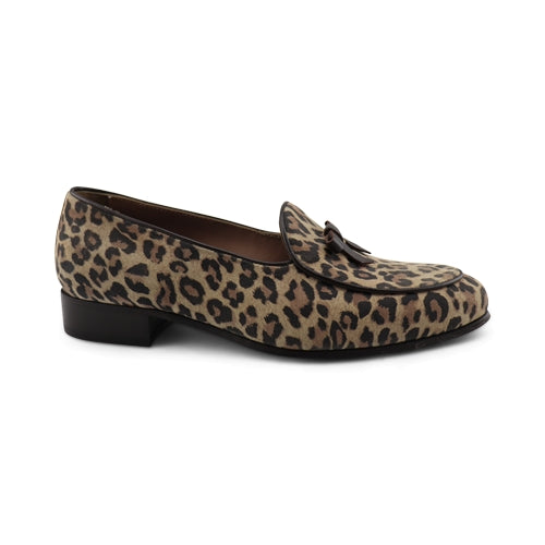 Slipper in pelle leopardata