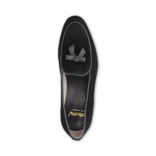 Slipper in camoscio nero