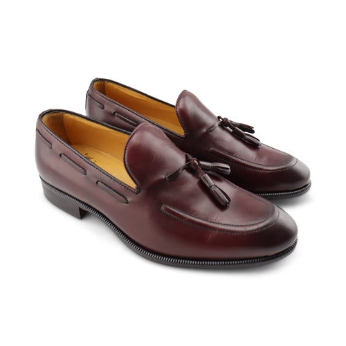 Slipper in pelle bordeaux