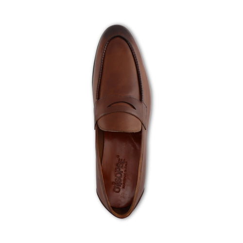 Mocassino in pelle cognac