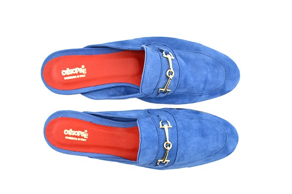 Slipper in camoscio jeans