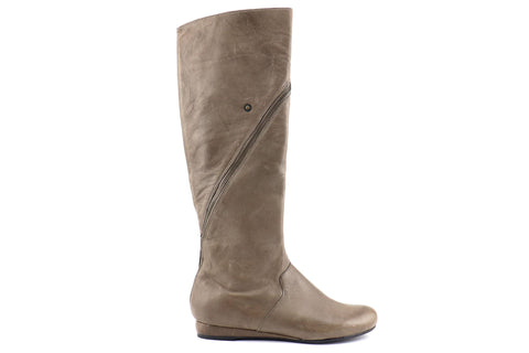 Taupe leather boots