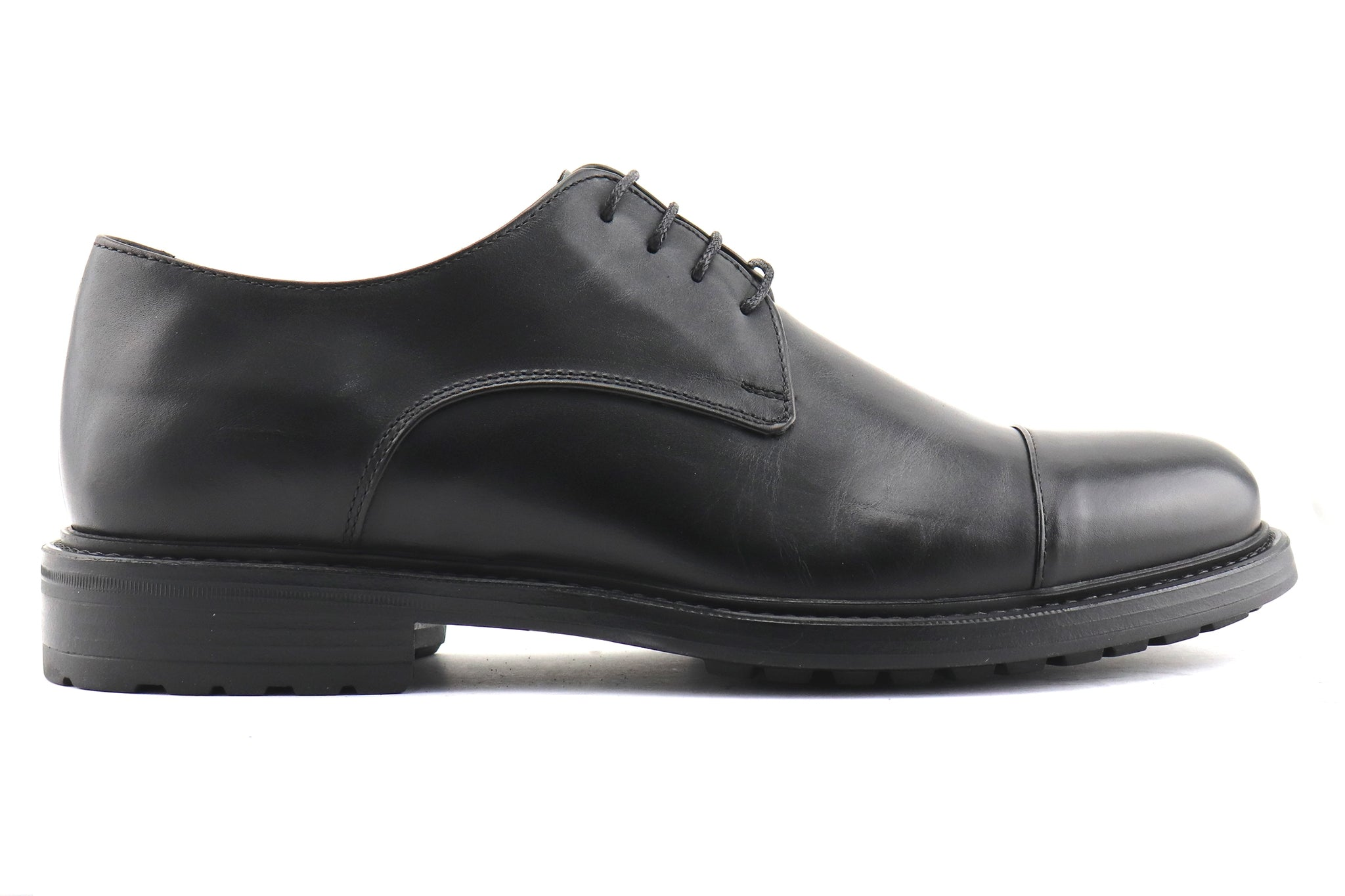 Derby in pelle nero