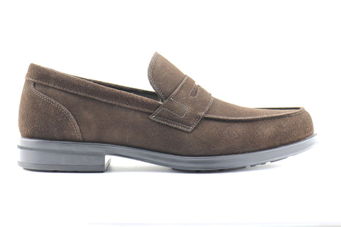 Moccasin in dark brown suede