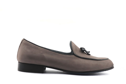 Slipper da donna in nabuk grigio