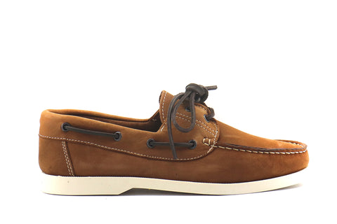 Mocassini boat in tortora leather