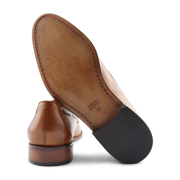 Slipper in pelle cuoio