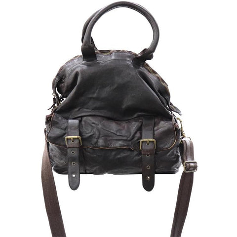 Dark brown washed bag