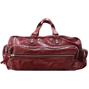 Borsone in pelle bordeaux