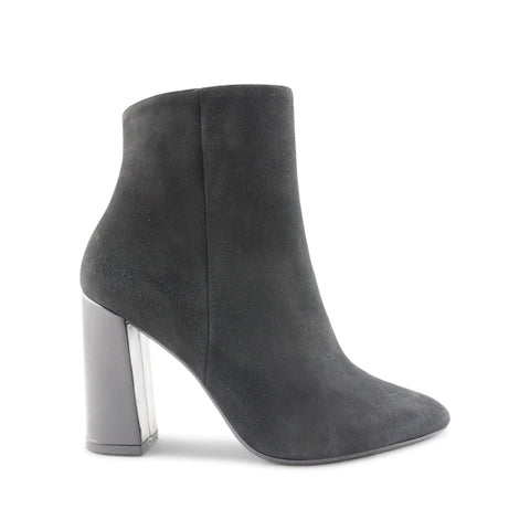 Women's black suede ankle boot t.90