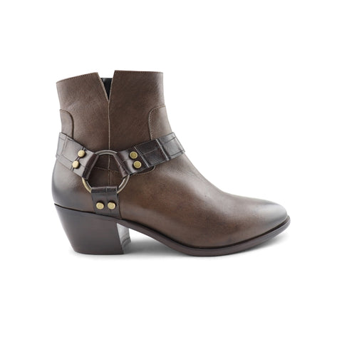 Dark brown ankle boot