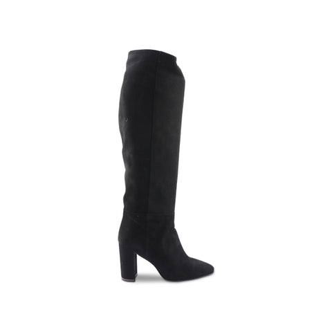 Women's black suede boot