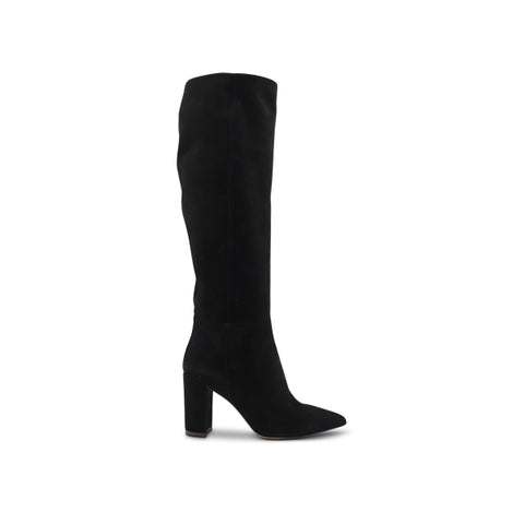 Woman's boot in black suede