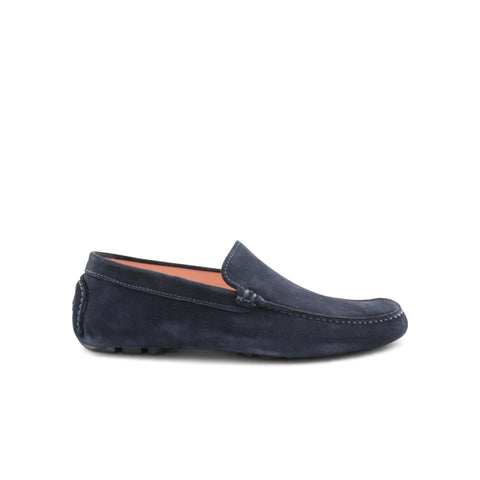 Blue suede moccasin