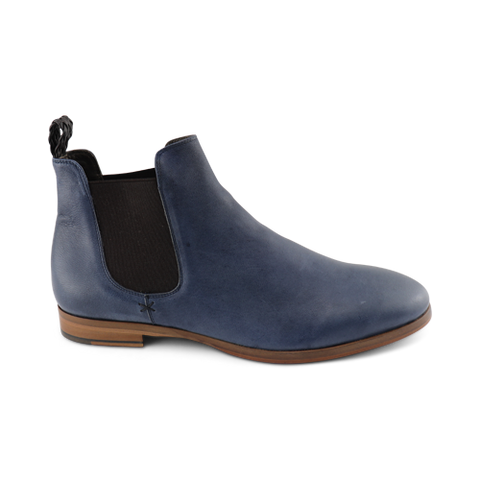 Jeans leather chelsea boot