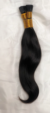 Load image into Gallery viewer, Keratin Micro-Link I-Tip Silky Straight (Black)