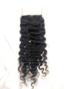 Raw Indian Natural Curl 4x4 Closure