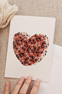 Carte de voeux - Heart Full Of Flowers