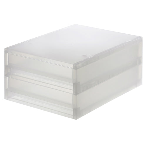 PP Storage Case / Drawer Type / Thin / 2 Steps
