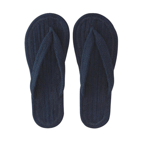 Indian Cotton Room Sandals Thong S Navy