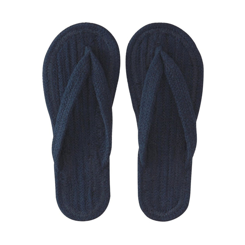 Indian Cotton Room Sandals Thong L Navy