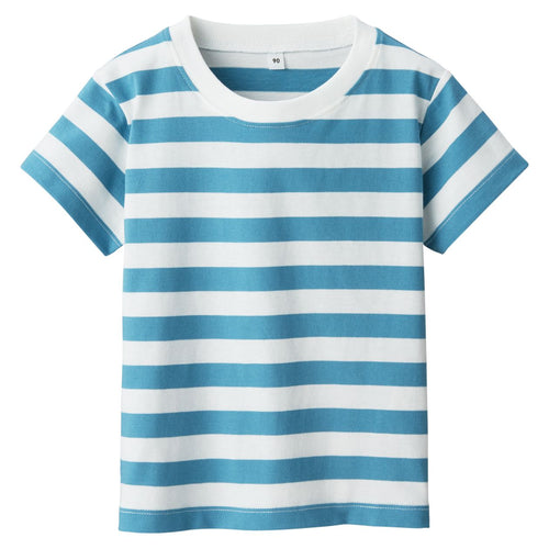 Indian Cotton Jersey Border S/S T-Shirt (Baby)