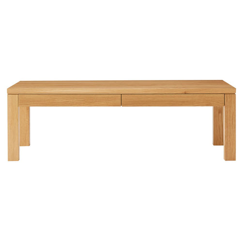 Natural Oak Low Table (With Drawer)-110x55cm