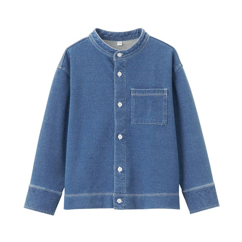 Easy Move Denim Stand Collar Shirt (Kids)