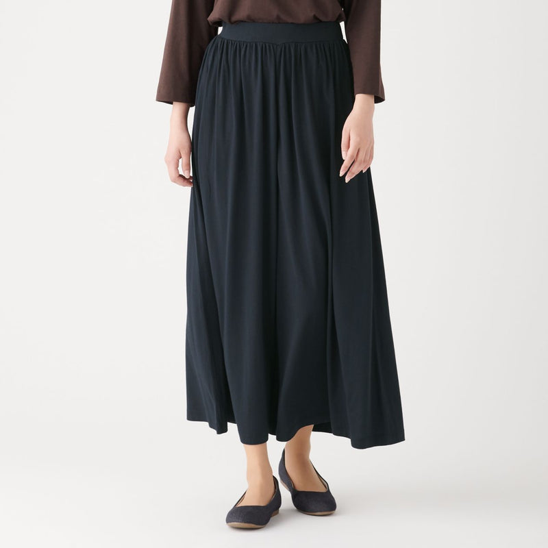 Cotton Rayon Wide Trousers