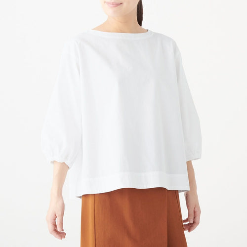 Xinjiang Cotton Washed Broad Half Sleeve Blouse