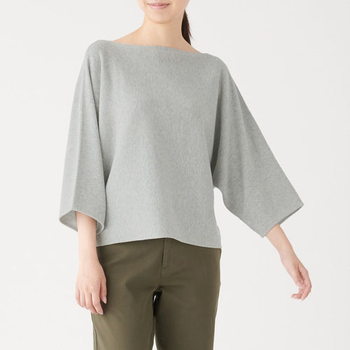 Cotton Rayon Dolman Sleeve Pullover