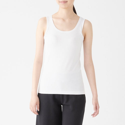 Silk Mix Tanktop With Built-In Cup