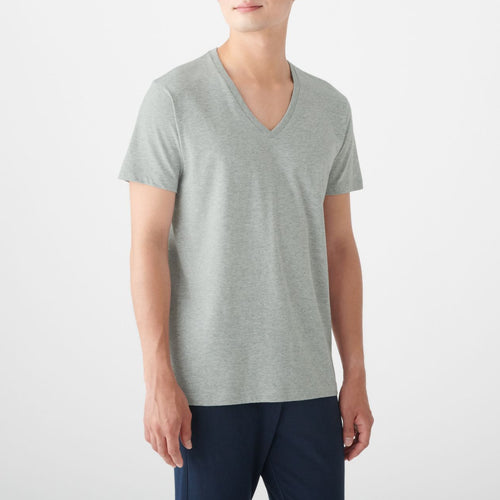 Side Seamless V Neck T-Shirt 2 Pack