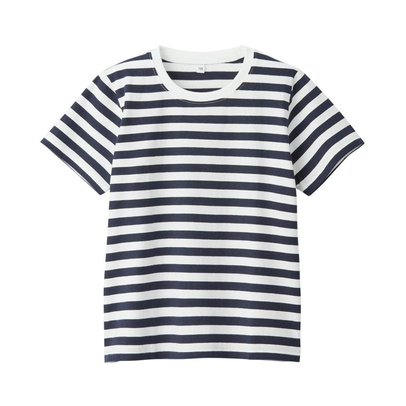 Indian Cotton Jersey Border S/S T-Shirt (Kids)