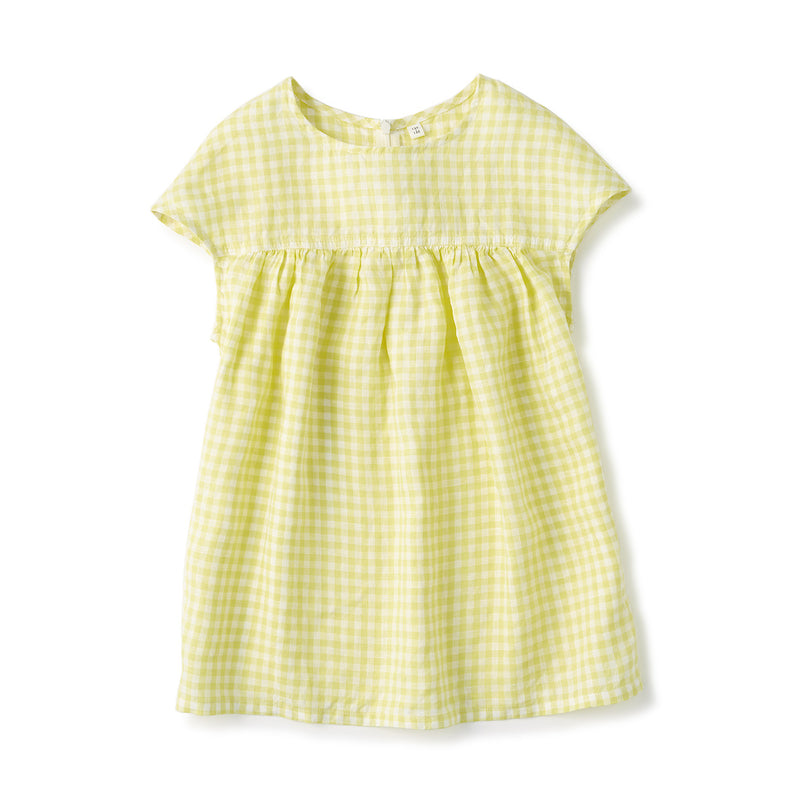 French Linen Washed S/S Blouse (Kids)