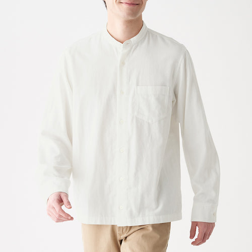 Indian Cotton Double Gauze Stand Collar Shirt