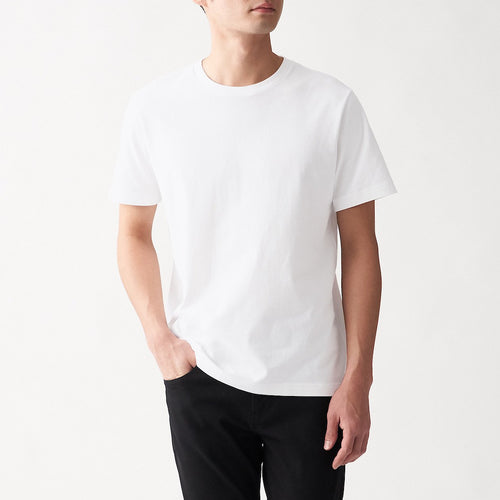 Indian Cotton Jersey Stitch Crew Neck S/S Mens T-Shirt