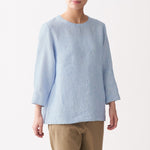 Organic Linen Washed 3/4 Sleeve Blouse
