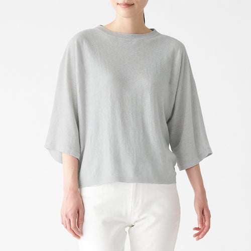 Uv Protection French Linen Wide Sweater