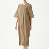 Wide Count Jersey Stitch Crew Neckdress