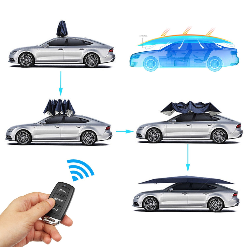 Hottest Portable Umbrella Car Roof Cover