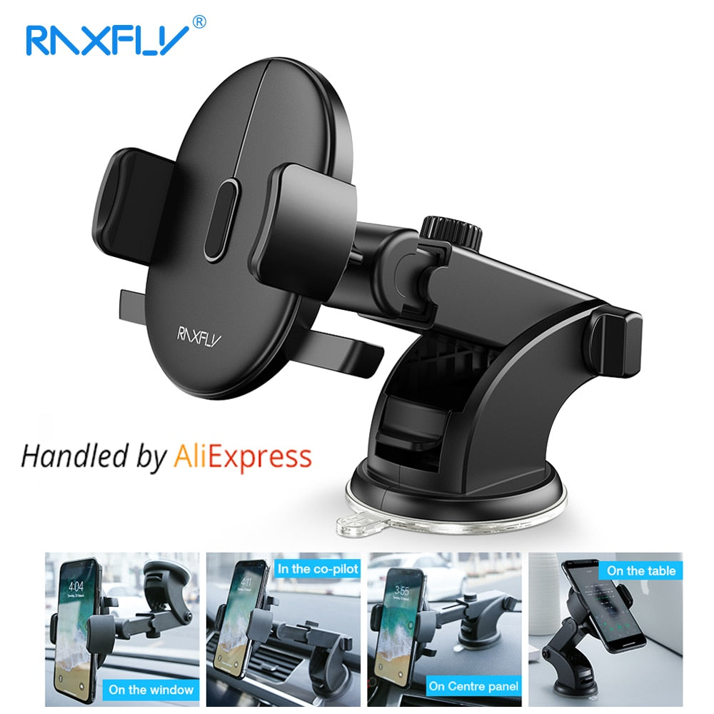 AUTOMATICALLY LOCKING WINDSHIELD PHONE HOLDER, UNIVERSAL FIT
