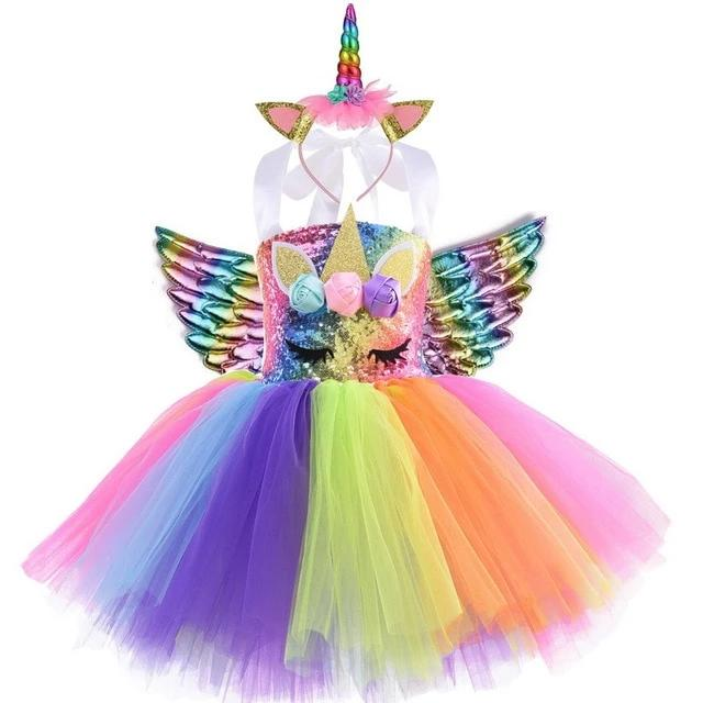 Tutu Dress With Gold Costumes - MeWantZ