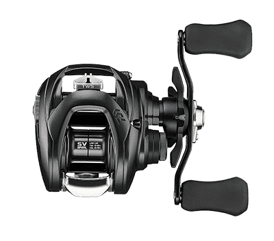 Top View of Daiwa Tatula SV TW103 Baitcast Reel