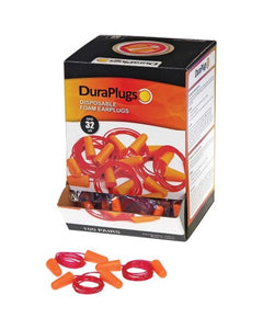 Ear Plugs Durawear Orange Corded NRR 32 dB - 100/Box (Product # 14311)