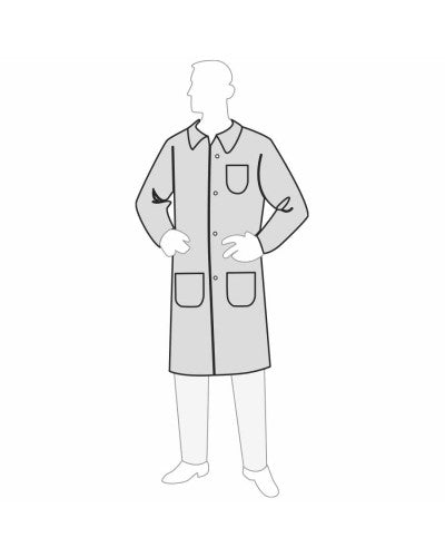 PermaGardTM lab coat with 3-pockets (Product # 18301)